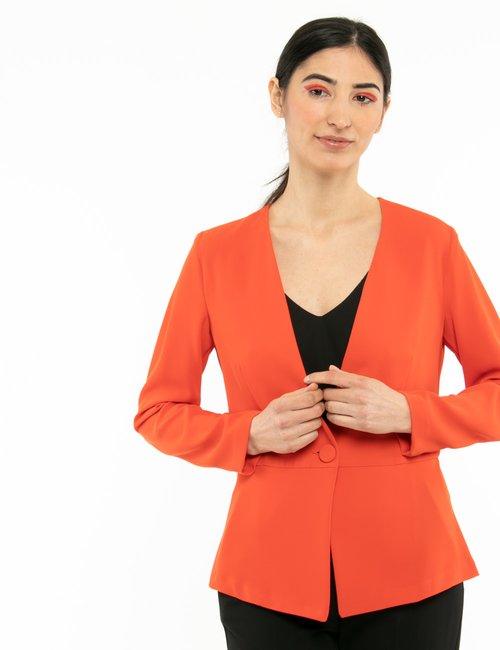 Blazer Vougue con bottone in tessuto - Arancione
