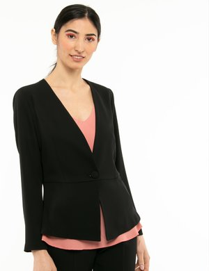 Blazer Vougue con bottone in tessuto