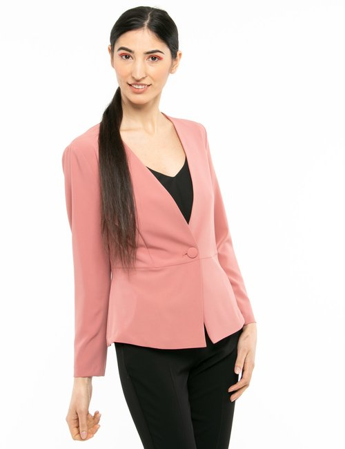 Blazer Vougue con bottone in tessuto - Rosa