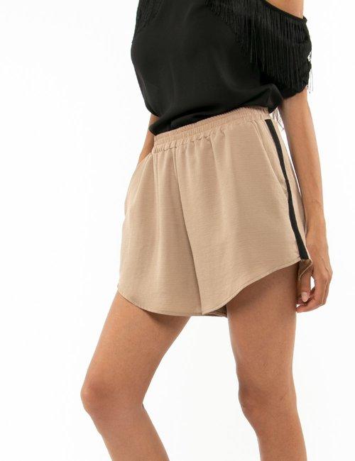 Shorts Vougue elasticizzati in vita - Marrone