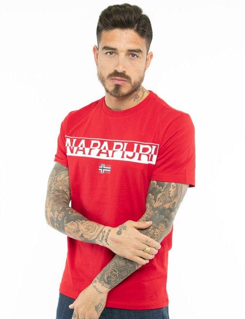 T-shirt Napapijri con logo - Rosso