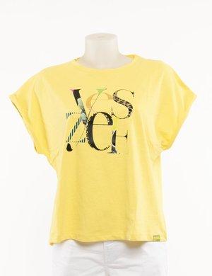 T-shirt Yes Zee con logo ricamato