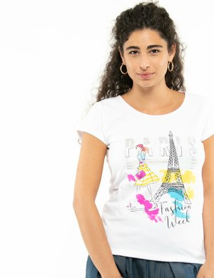 T-shirt Yes Zee con stampa colorata