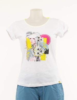 T-shirt Yes Zee con stampa