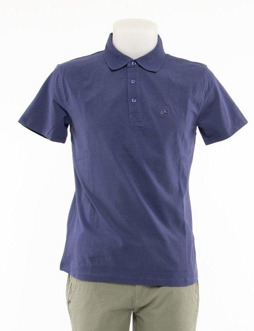 Polo Yes Zee con logo a lato - Blu
