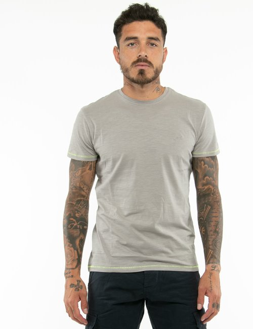 T-shirt Yes  Zee con cuciture a contrasto - Grigio