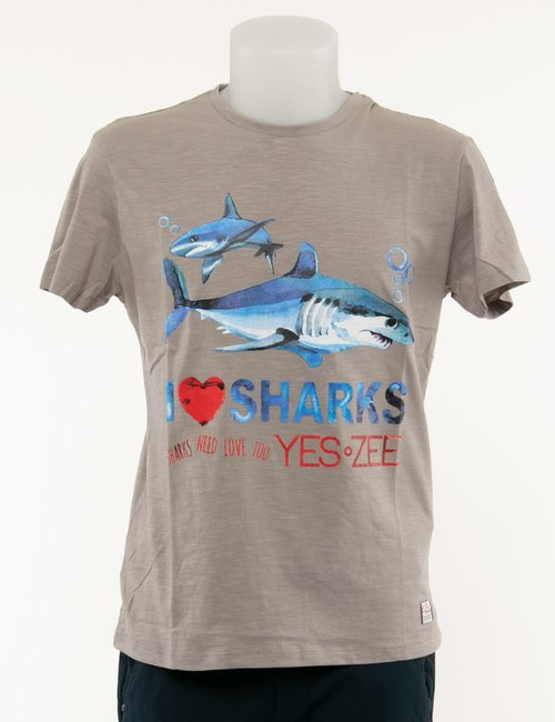 T-shirt Yes Zee stampata - Beige