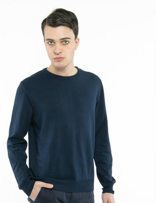 Pullover Nick Logan in cotone - Blu