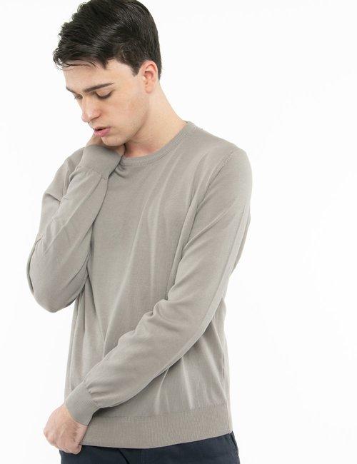 Pullover Nick Logan in cotone - Grigio