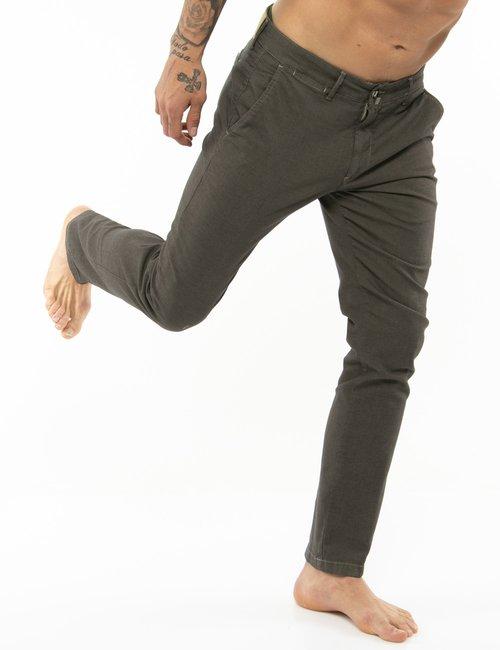 Pantalone Asquani con impunture - Marrone