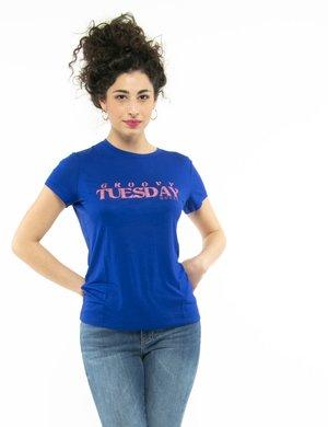 T-shirt Guess con scritta glitterata