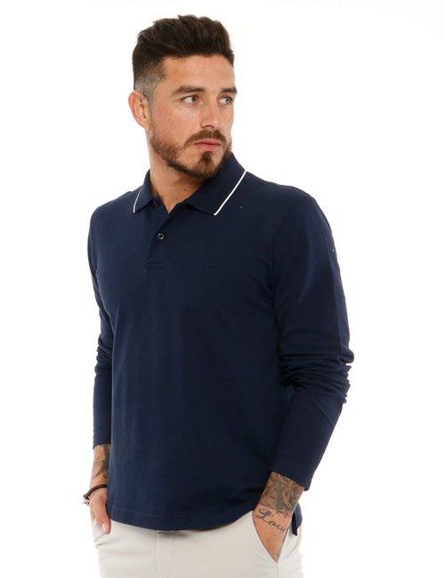 Polo Gant a maniche lunghe - Blu