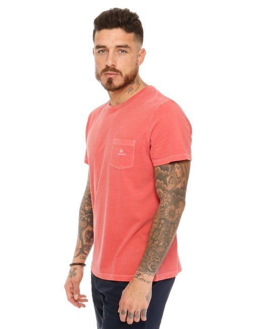 T-shirt Gant con taschino - Rosa