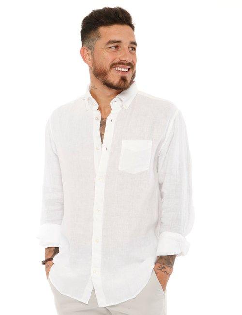 Camicia Gant in lino - Bianco