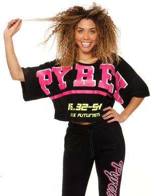 T-shirt Pyrex stampata con maxi maniche