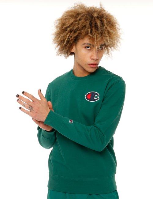 Felpa Champion con logo - Verde