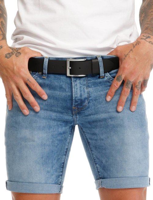 Cintura Levi's in pelle - Nero