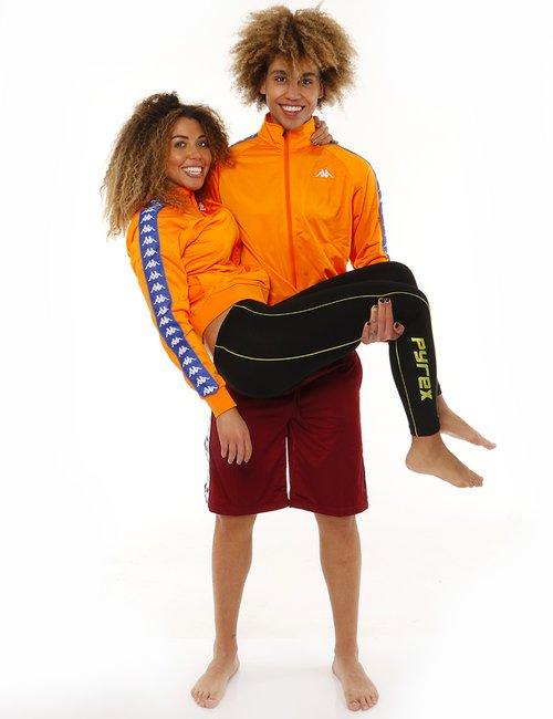 Felpa Kappa con zip - Arancione