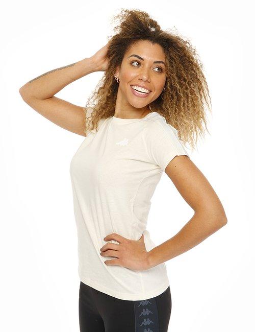 T-shirt Kappa con bande laterali - Avorio
