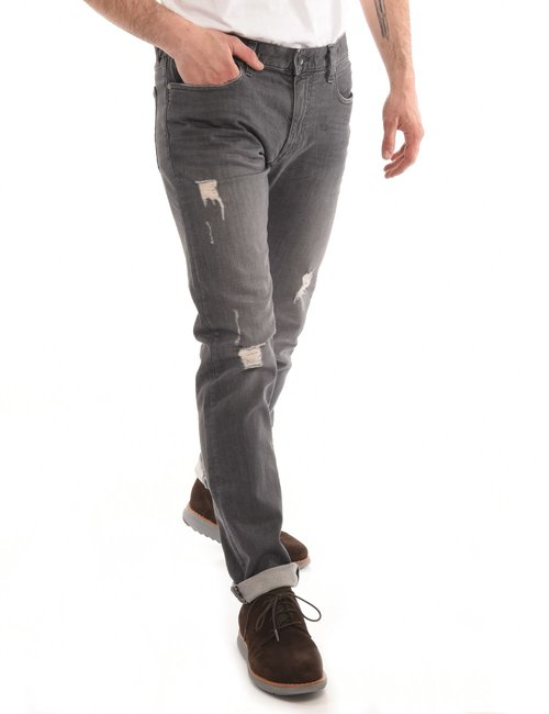 Jeans Armani Exchange effetto consumato - Grigio