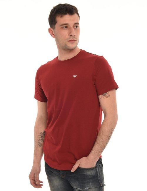 T-shirt Emporio Armani con logo ricamato - Rosso