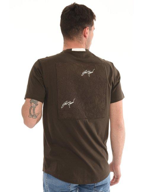 T-shirt Emporio Armani con applicazione posteriore - Verde