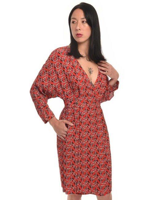Vestito Manila Grace fantasia chain - Rosso
