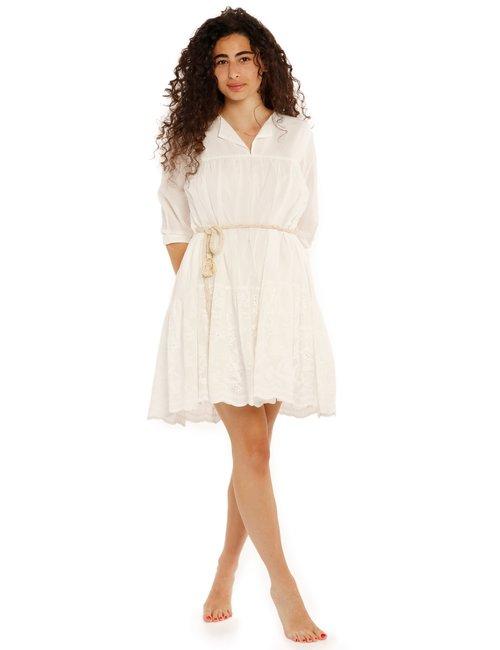 Vestito Yes Zee con decorazioni - Bianco