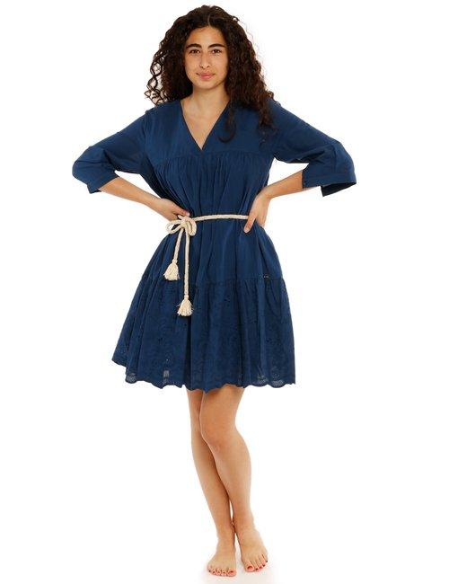 Vestito Yes Zee con decorazioni - Blu