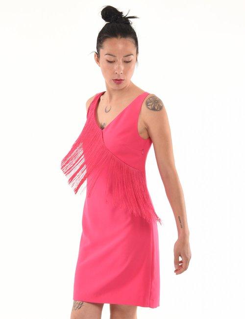 Vestito Manila Grace con frange - Fucsia