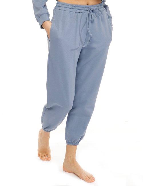 Pantalone Vougue in cotone - Azzurro