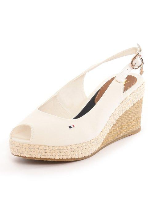 Sandalo U.S. Polo Assn. con piccolo ricamo a lato - Bianco