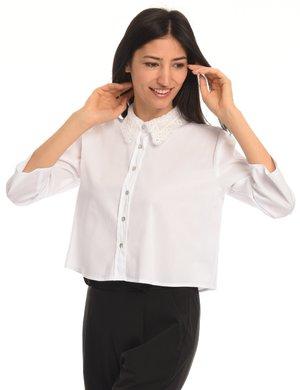 Camicia Vougue con collo in pizzo e manica dritta
