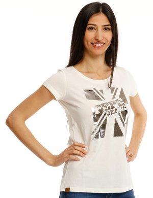 T-shirt Pepe Jeans con stampa metallizzata