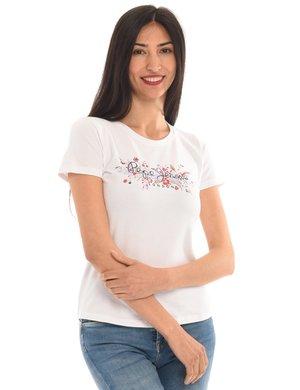T-shirt Pepe Jeans stampa a fiori