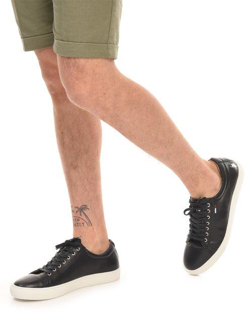 Sneaker U.S. Polo Assn. in pelle - Nero