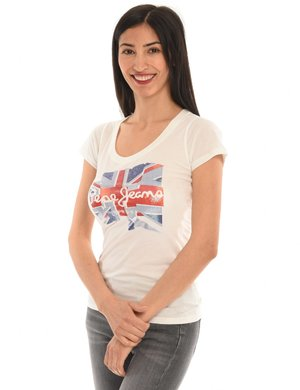 T-shirt Pepe Jeans con logo effetto lucido