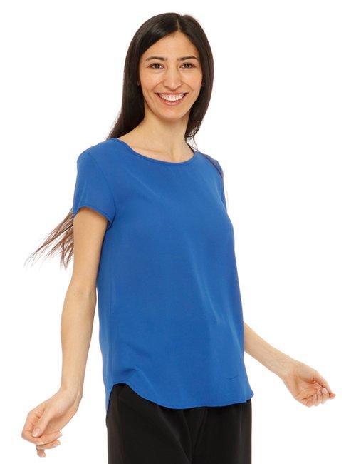 Camicia Vougue a maniche corte - Blu