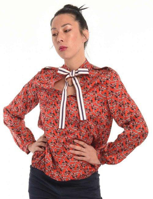 Camicia Manila Grace chain - Rosso