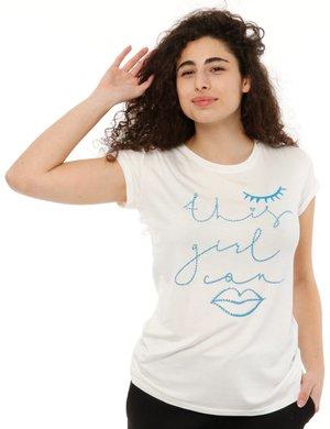 T-shirt Vougue con scritta