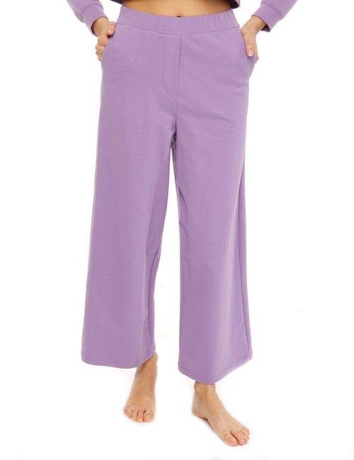 Pantalone Vougue in cotone con tasche - Viola