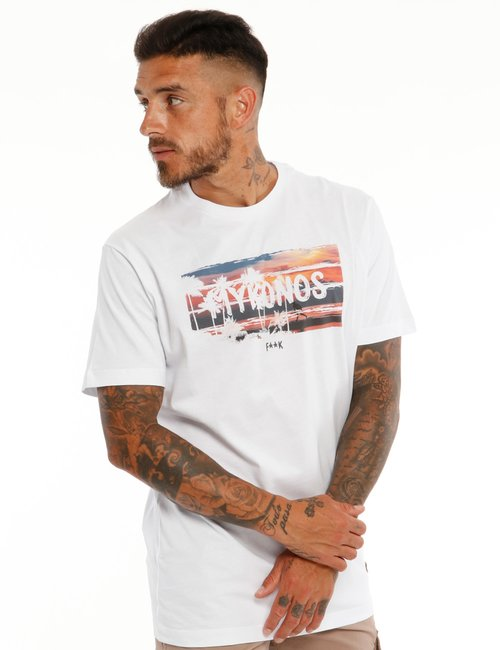 T-shirt F**K con stampa - Bianco