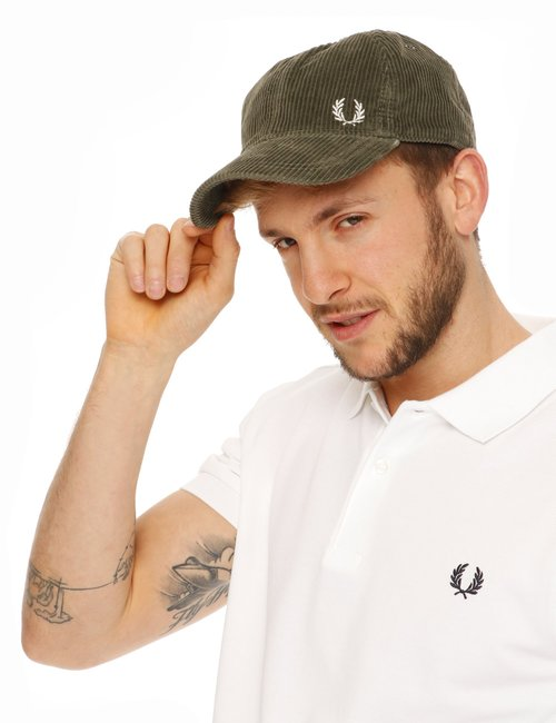 Cappello Fred Perry in ciniglia - Verde