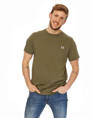 T-shirt Fred Perry con logo ricamato