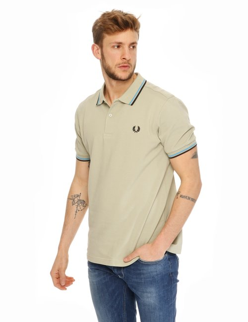 Polo Fred Perry con bordi a contrasto - Verde