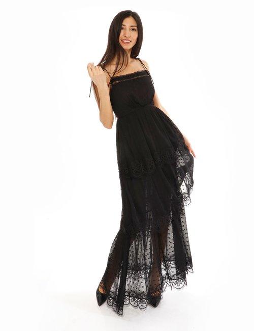 Vestito Fracomina con bordi merlettati - Nero