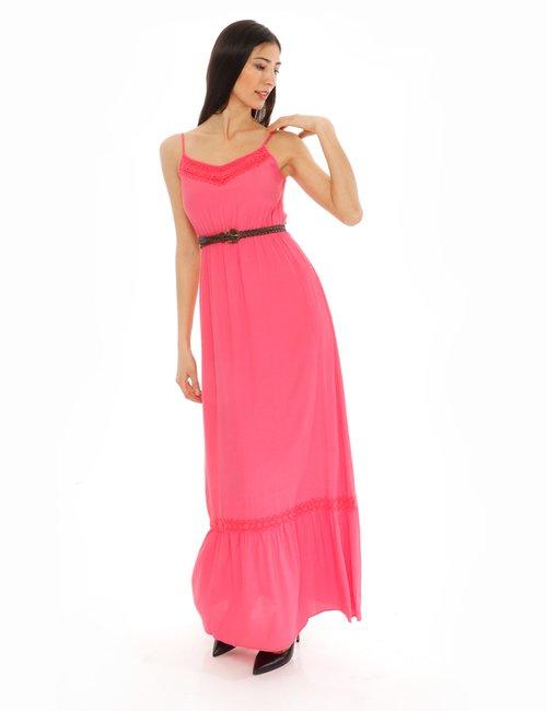 Vestito Fracomina lungo con cintura - Rosa