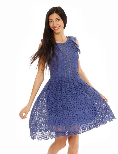 Vestito Fracomina decorato - Blu