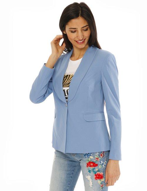 Blazer Fracomina con collo a scialle - Azzurro
