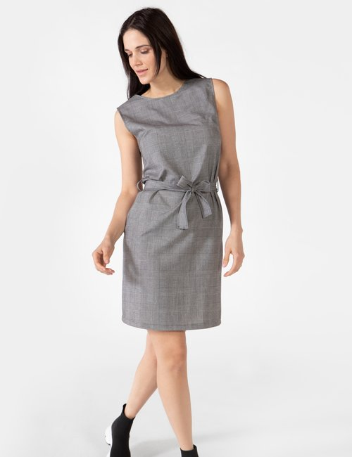 Vestito Vougue con cintura - Grigio